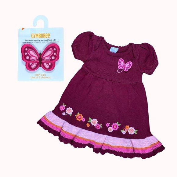 GYMBOREE Butterfly Knit Dress